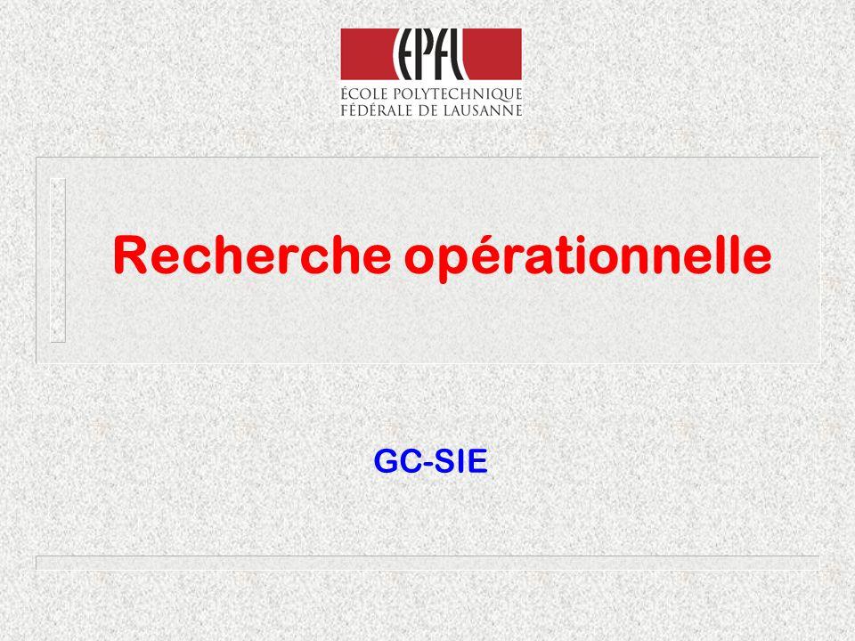 Recherche opérationnelle GC-SIE