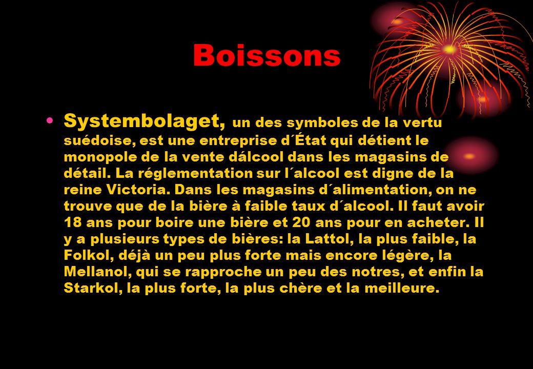 Boissons Systembolaget, un des symboles de la vertu suédoise, est une entreprise d´État qui détient le monopole de la vente dálcool dans les magasins
