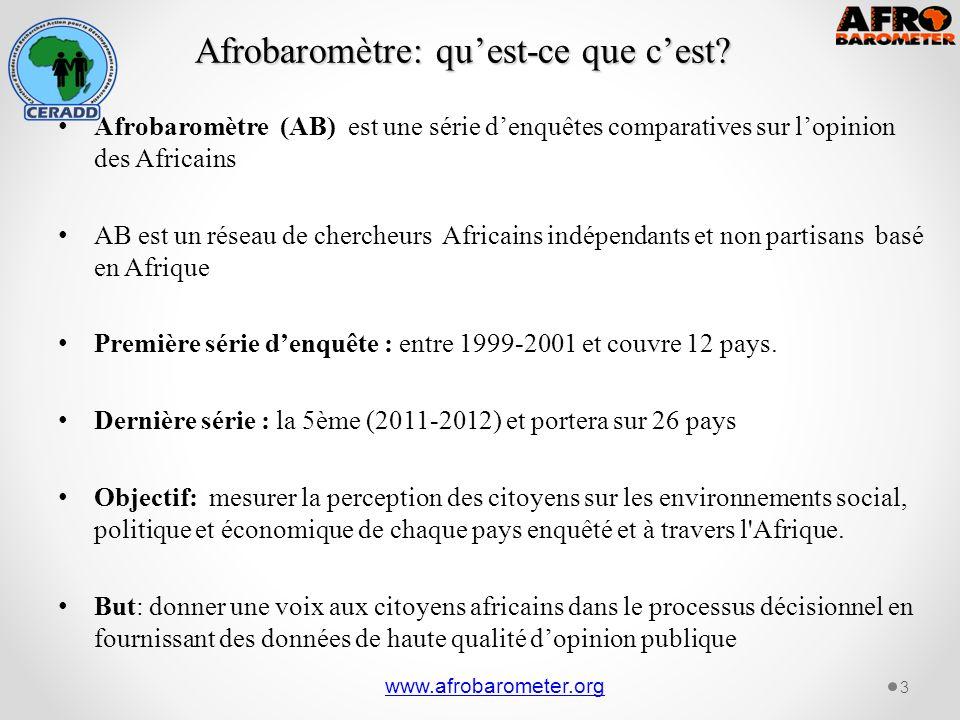 Afrobaromètre: quest-ce que cest.