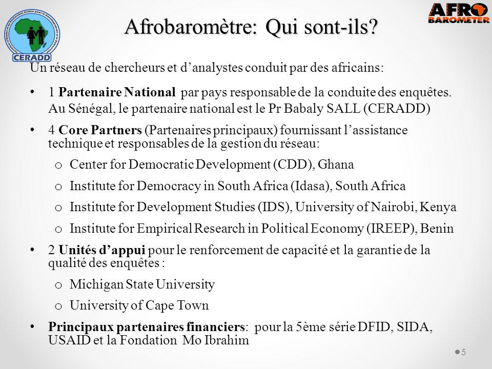 Afrobaromètre: Qui sont-ils. Afrobaromètre: Qui sont-ils.