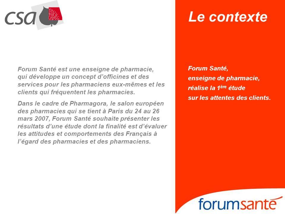 Forum Santé est une enseigne de pharmacie, qui développe un concept dofficines et des services pour les pharmaciens eux-mêmes et les clients qui fréqu