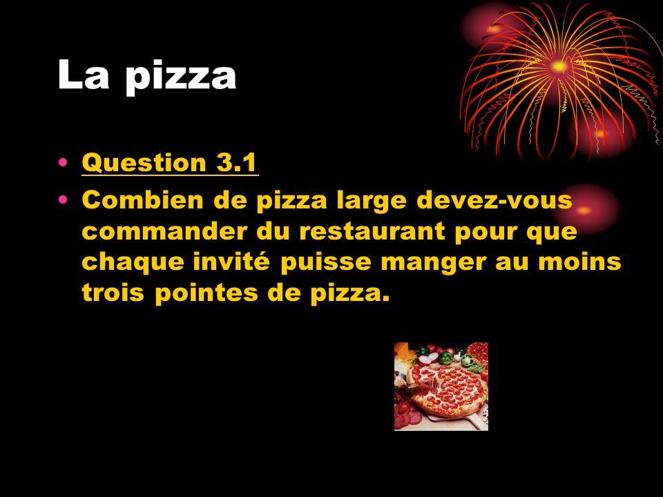 Le glouton Question 3.2 Un de vos collègues de travail est très gourmand.
