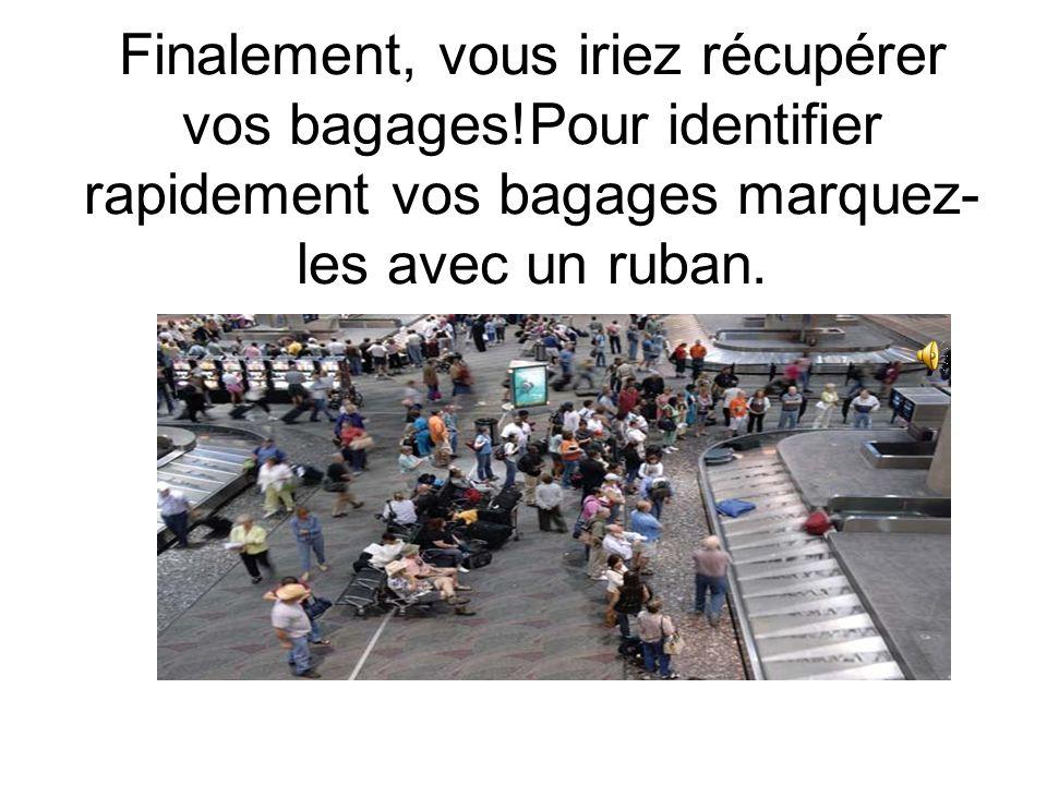 Dès votre arrivée vous passeriez par la douane. Un/e douanier/ère vérifierait votre passeport et vous poserait des questions comme: la raison de votre