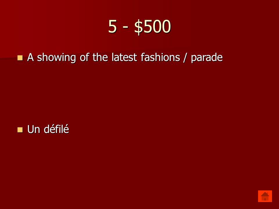 5 - $400 Flea market Flea market Le marché aux puces Le marché aux puces