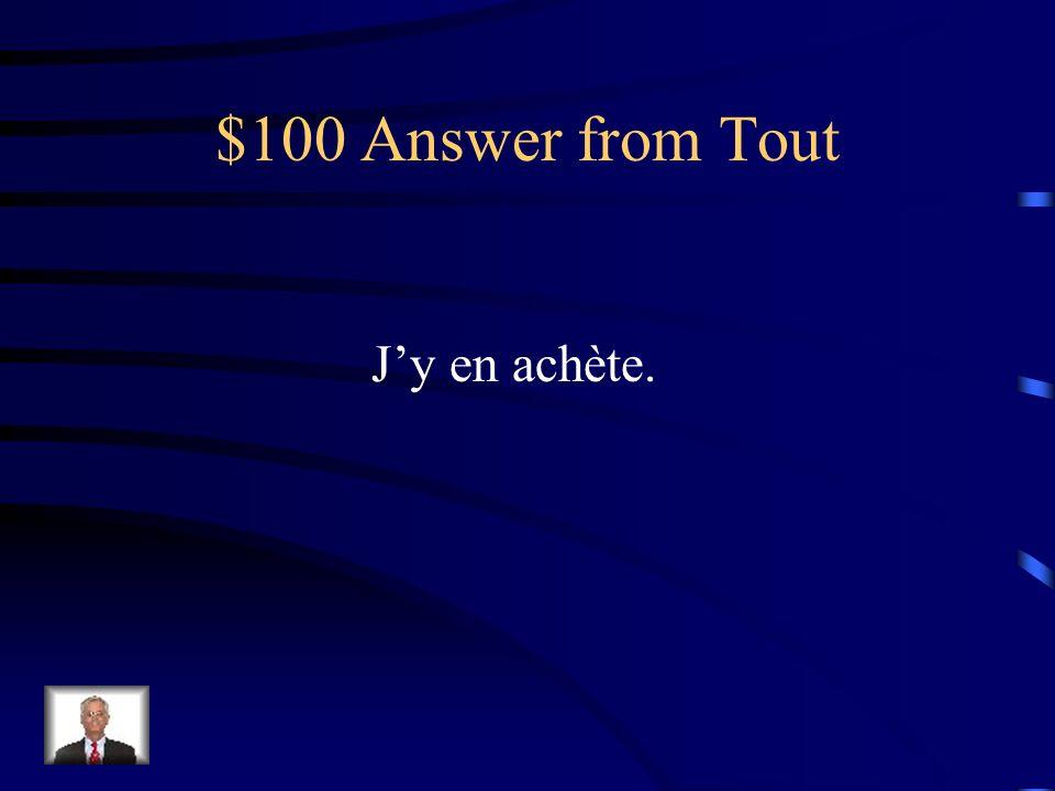 $100 Question from Tout Jachète des pommes au marché.