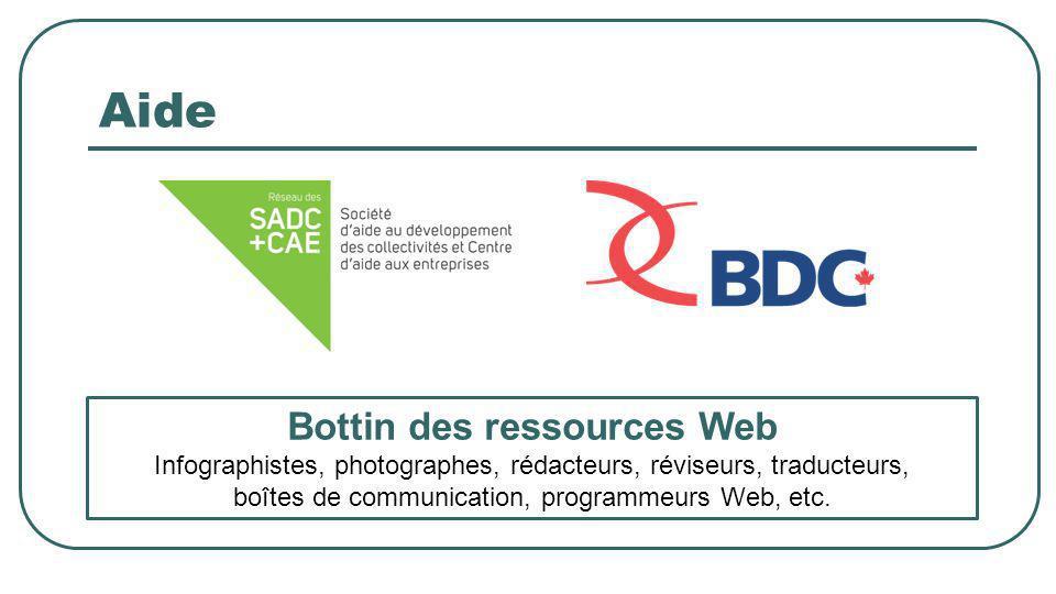 Aide Bottin des ressources Web Infographistes, photographes, rédacteurs, réviseurs, traducteurs, boîtes de communication, programmeurs Web, etc.