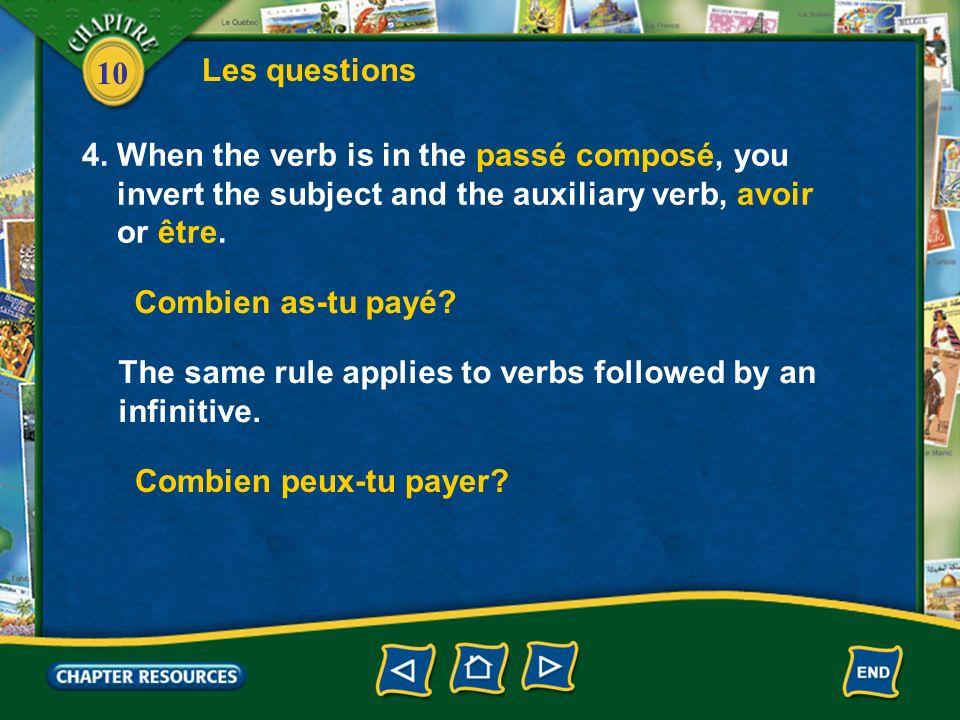 10 Les questions 4.