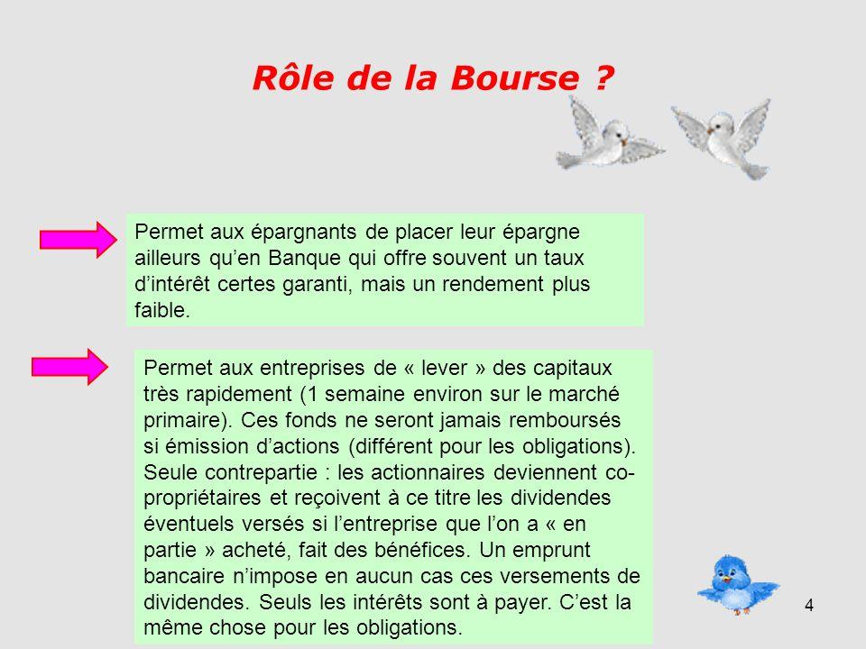 4 Rôle de la Bourse .