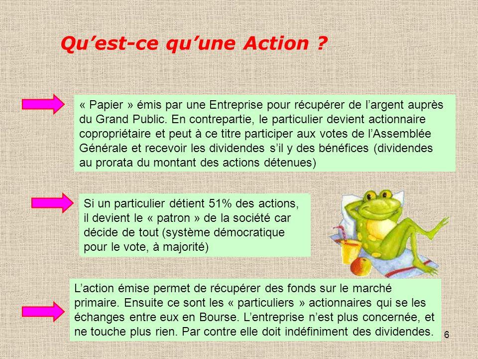 6 Quest-ce quune Action .