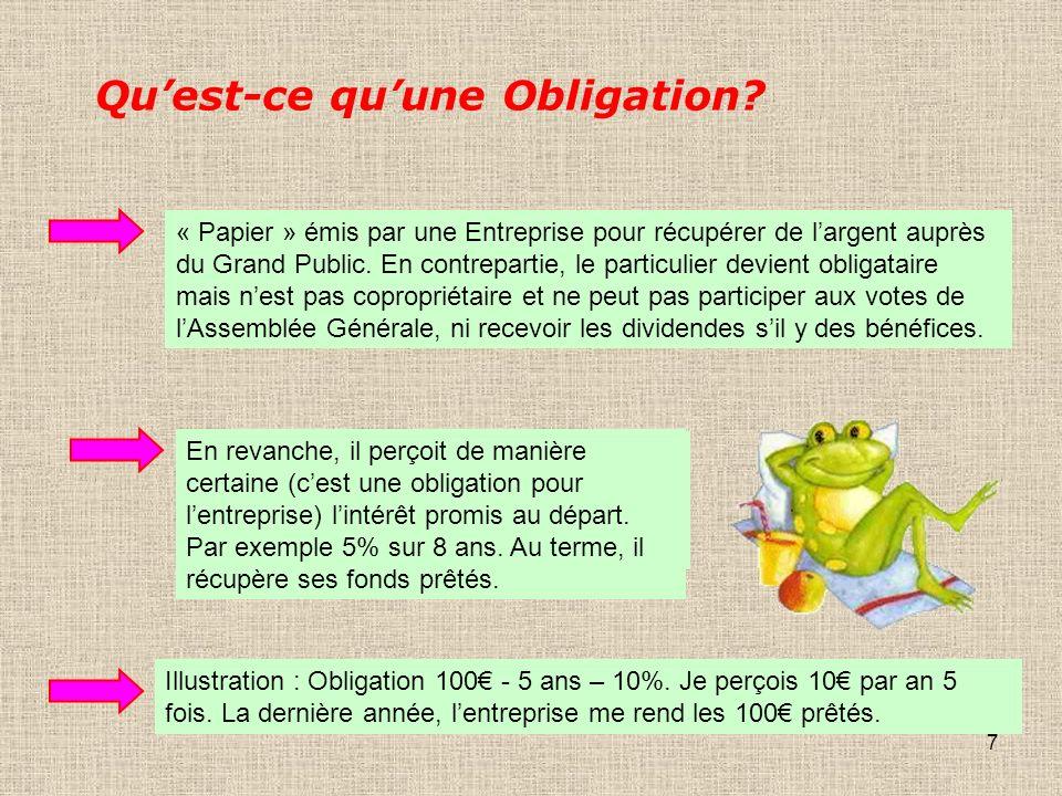 7 Quest-ce quune Obligation.