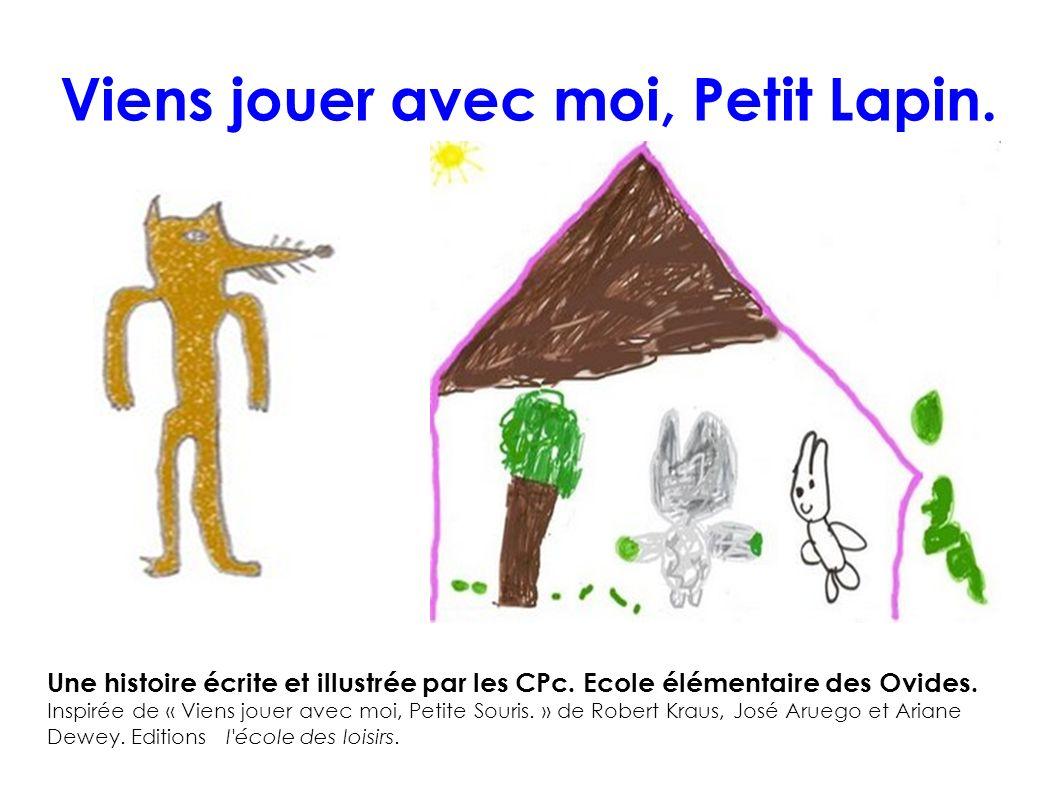 Viens jouer avec moi, Petit Lapin. Une histoire écrite et illustrée par les CPc. Ecole élémentaire des Ovides. Inspirée de « Viens jouer avec moi, Pet