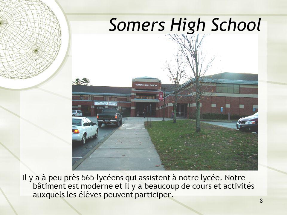 8 Il y a à peu près 565 lycéens qui assistent à notre lycée. Notre bâtiment est moderne et il y a beaucoup de cours et activités auxquels les élèves p