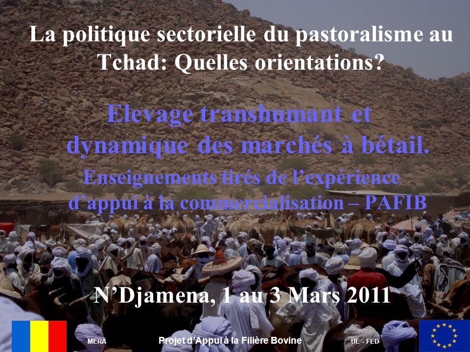 MERA Projet dAppui à la Filière Bovine UE - FED La politique sectorielle du pastoralisme au Tchad: Quelles orientations? Elevage transhumant et dynami
