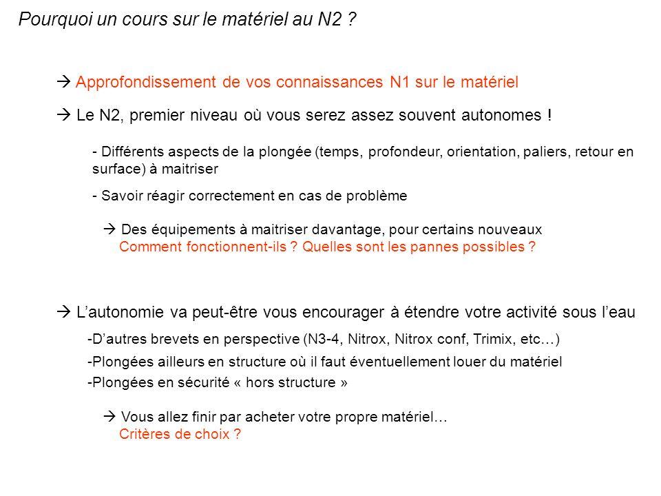 Pourquoi un cours sur le matériel au N2 ? Approfondissement de vos connaissances N1 sur le matériel Le N2, premier niveau où vous serez assez souvent