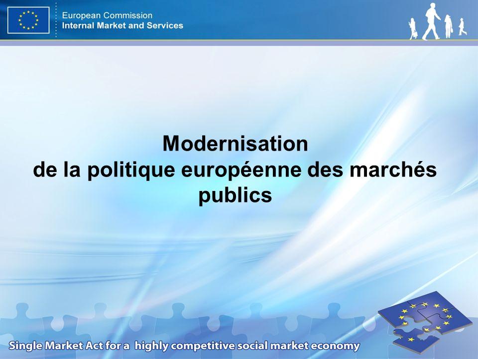 Modernisation de la politique européenne des marchés publics