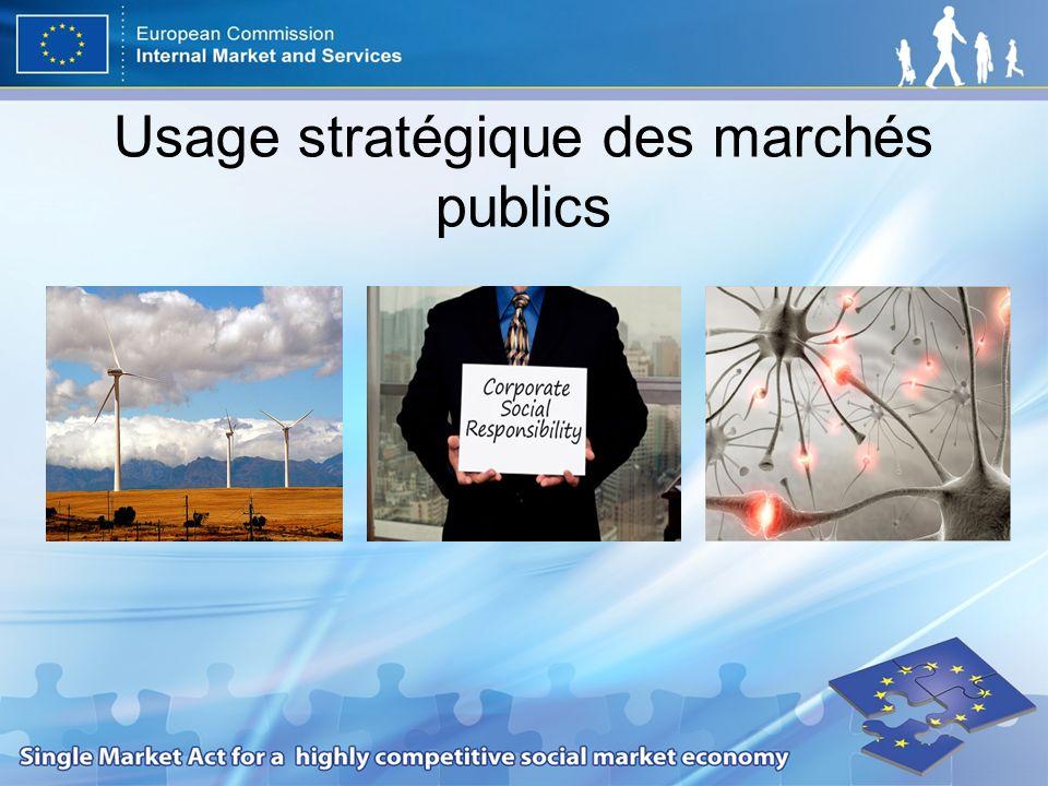 Usage stratégique des marchés publics