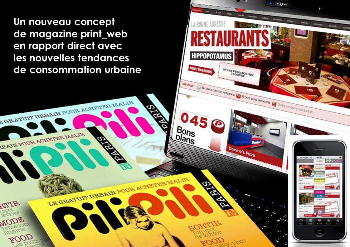 Un nouveau concept de magazine print_web en rapport direct avec les nouvelles tendances de consommation urbaine