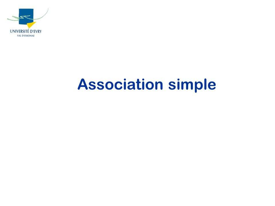 Association simple