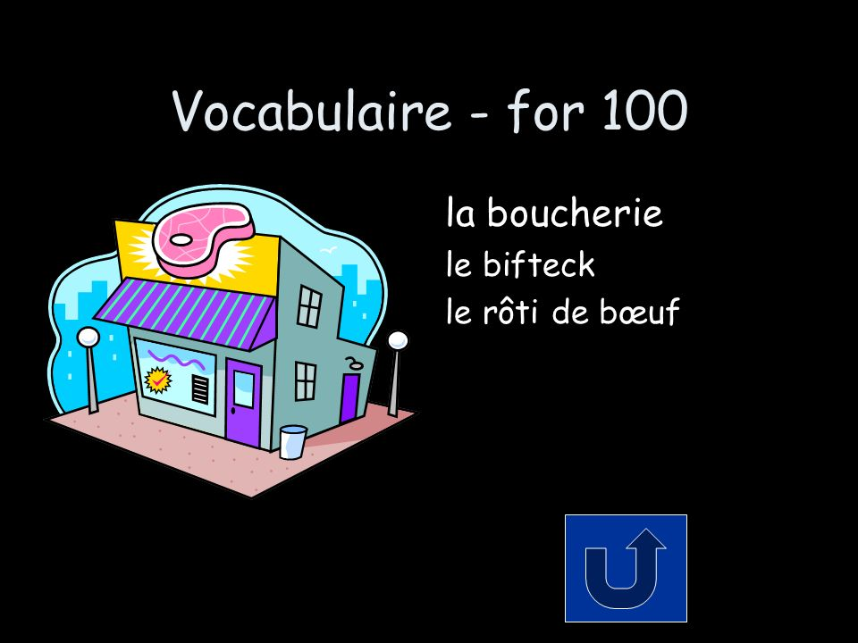 Vocabulaire - for 200 Comment dit-on… the fish shop some shrimp some seafood