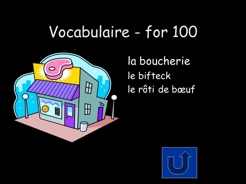 Les Pronoms - for 200 Replace the logical portion with the proper pronoun: Il achète une livre de pommes de terre