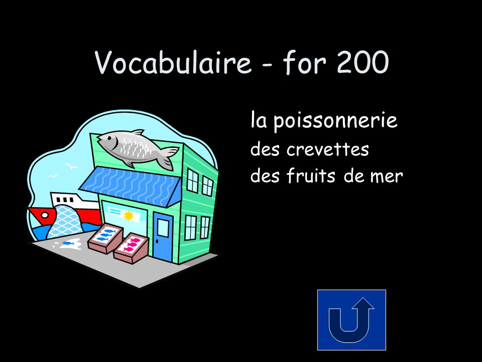 Le Partitif - for 300 Decide which indefinite article or partitive article is needed Moi, je vais prendre ___ poisson et ___ croissant avec ___ beurre.