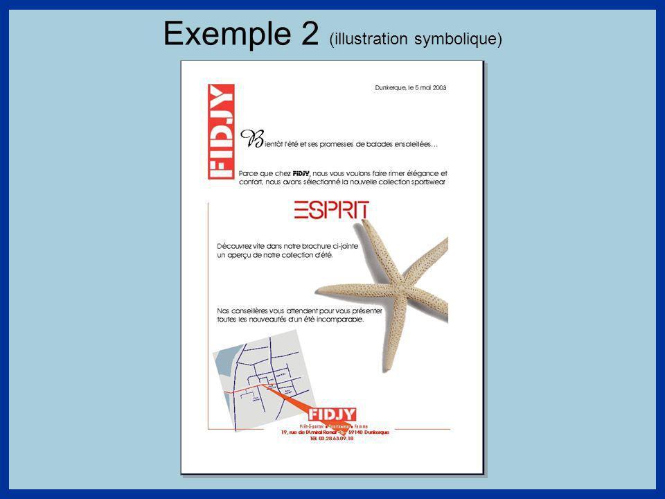 Exemple 2 (illustration symbolique)