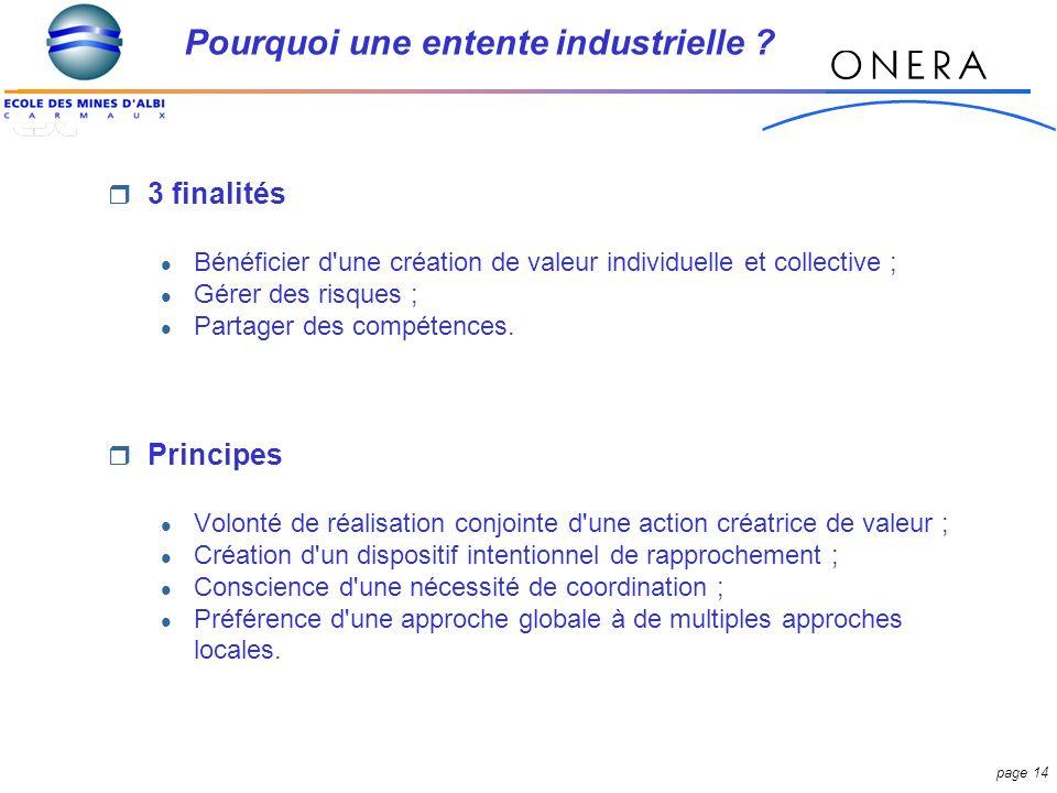 page 14 3 finalités Bénéficier d une création de valeur individuelle et collective ; Gérer des risques ; Partager des compétences.