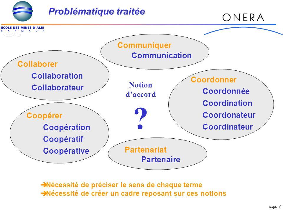 page 18 Dynamique de lentente industrielle Collaboration Traitements CommunicationDonnées Echange ponctuel Coordination Processus déchange formalisé Partage Processus déchange formalisé et/ou Partage Coopération Partenariat