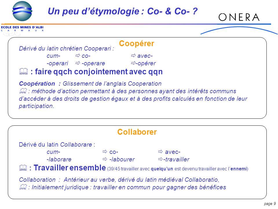 page 9 Un peu détymologie : Co- & Co- .