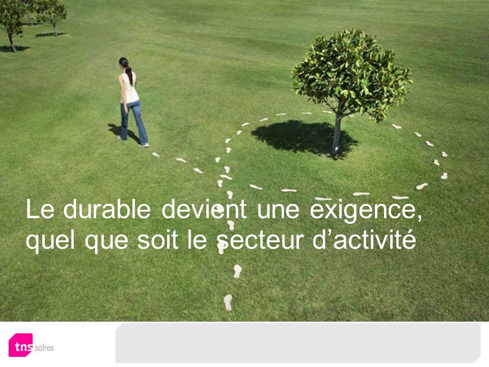 Le durable devient une exigence, quel que soit le secteur dactivité