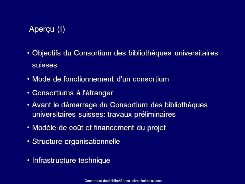 Les prestations du bureau central Introduction de produits d informations électroniques dans le consortium Des difficultés....