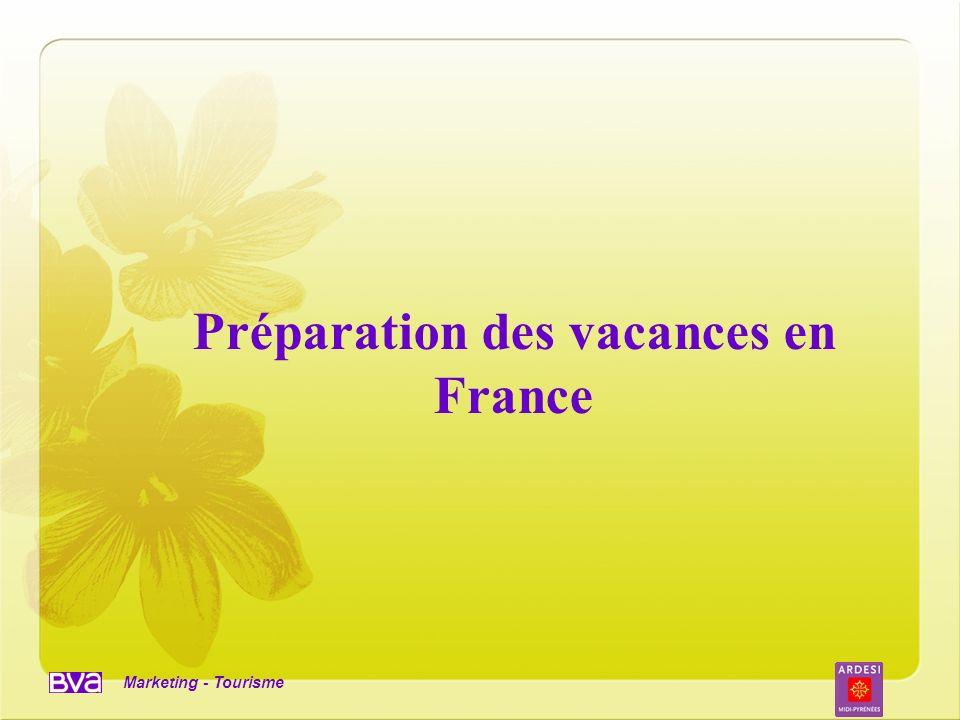 Marketing - Tourisme Préparation des vacances en France