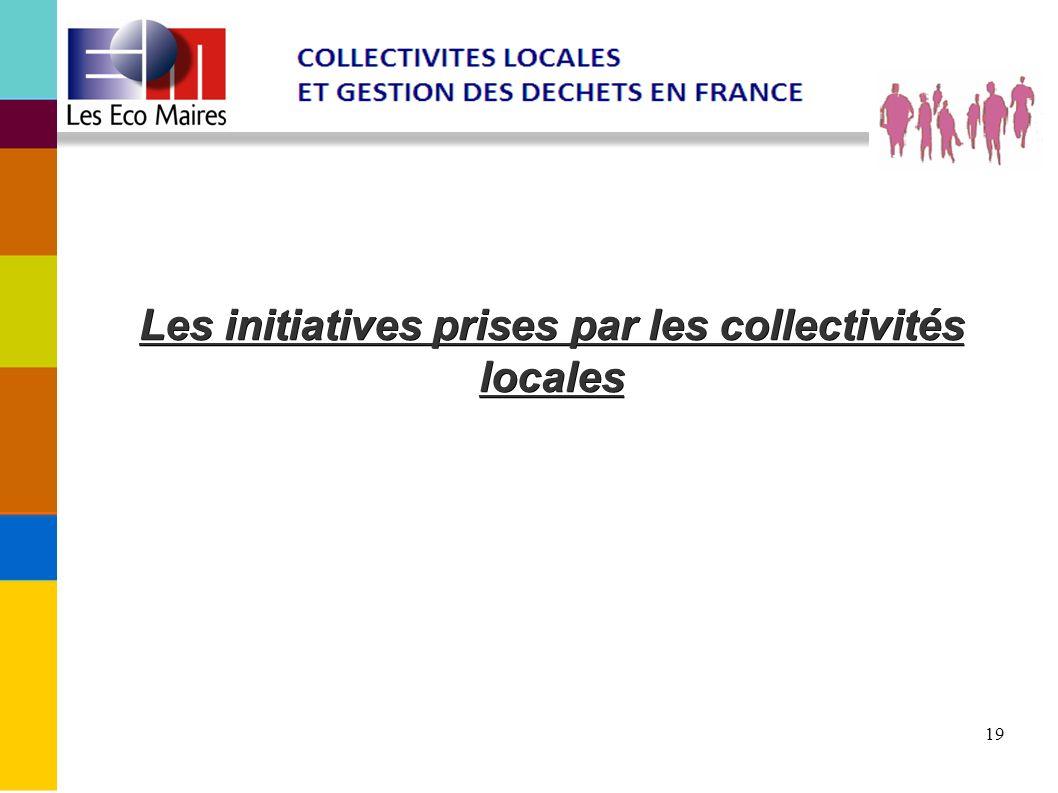 19 Les initiatives prises par les collectivités locales