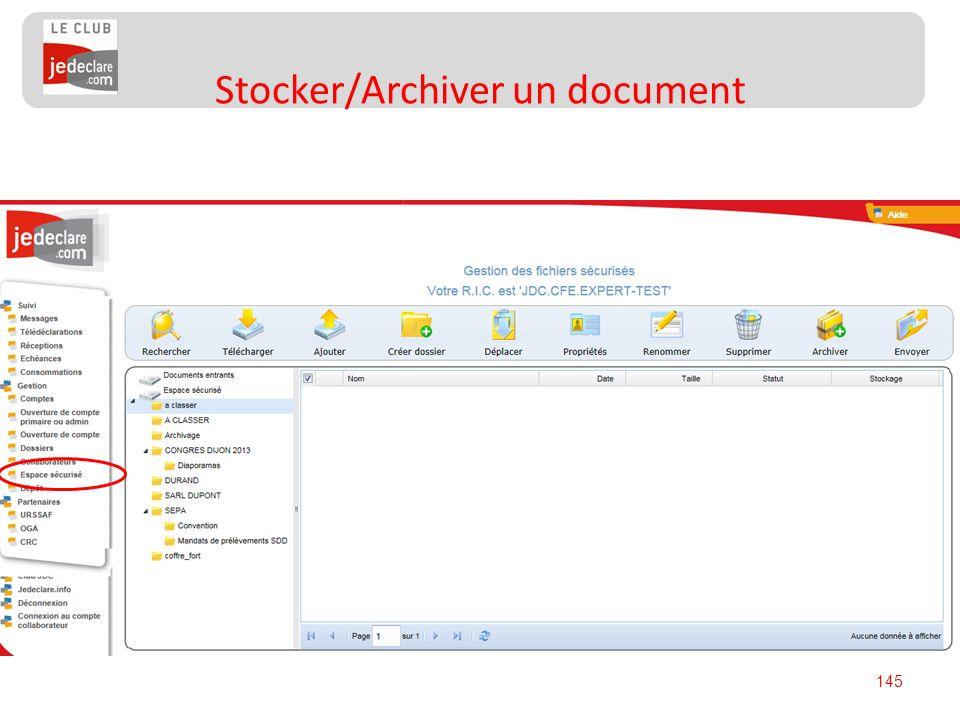 145 Stocker/Archiver un document