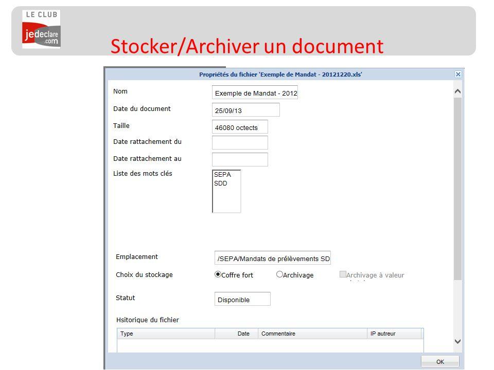 146 Stocker/Archiver un document
