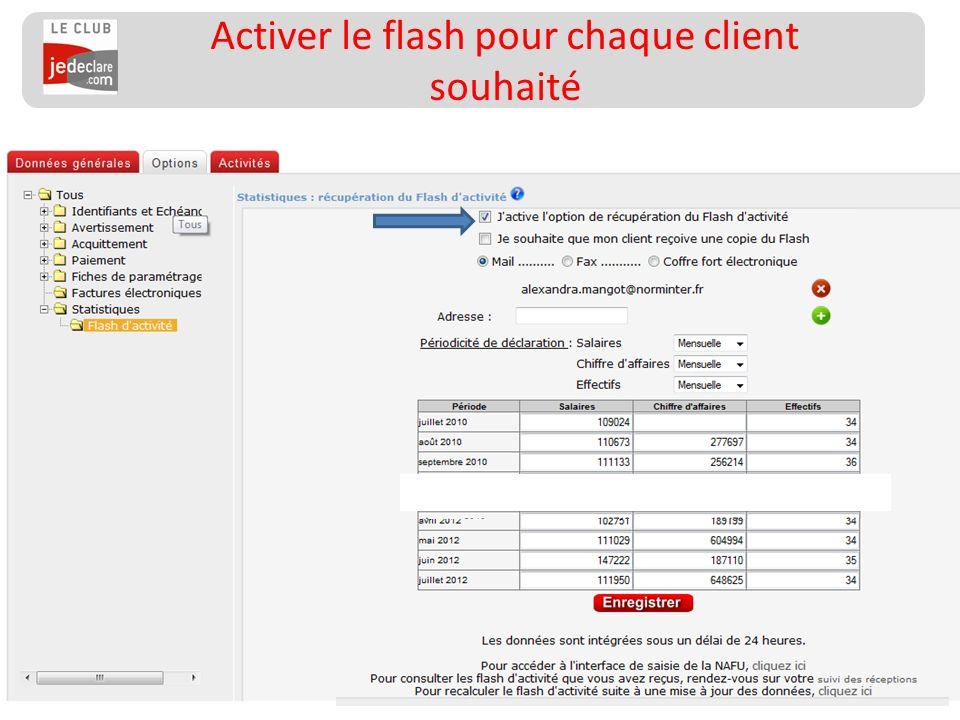 155 Activer le flash pour chaque client souhaité __________________