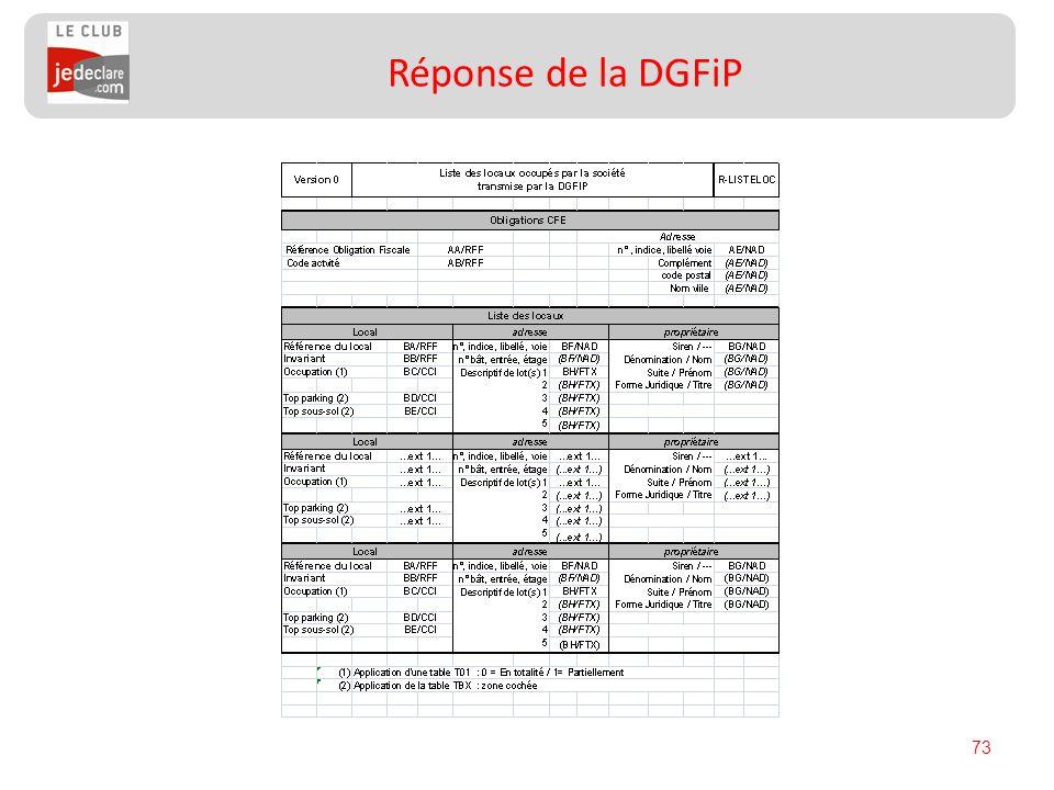 73 Réponse de la DGFiP