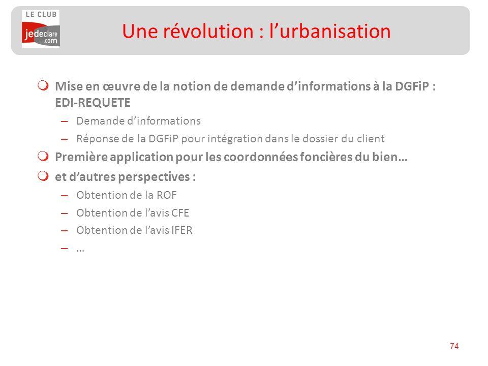 74 Mise en œuvre de la notion de demande dinformations à la DGFiP : EDI-REQUETE – Demande dinformations – Réponse de la DGFiP pour intégration dans le