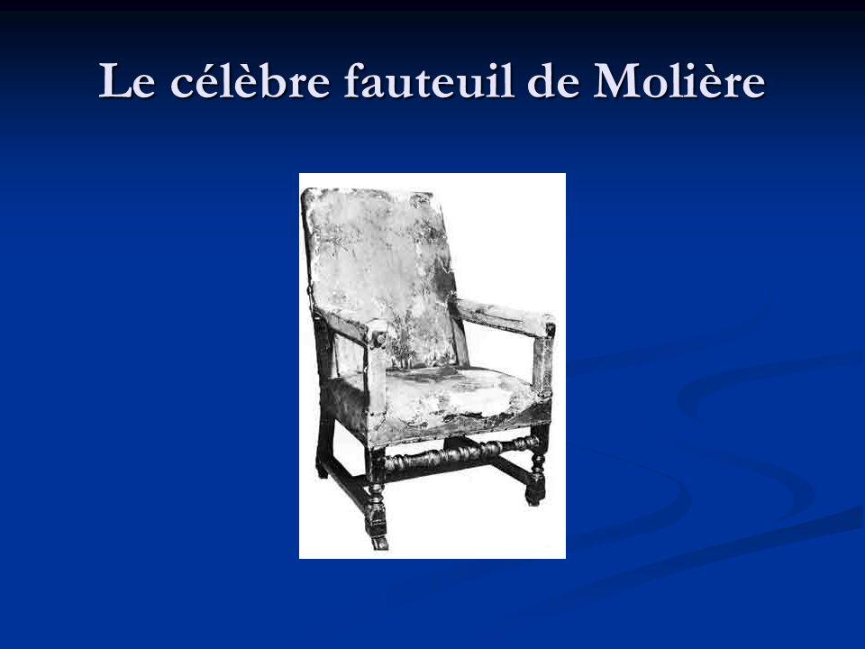 Le célèbre fauteuil de Molière