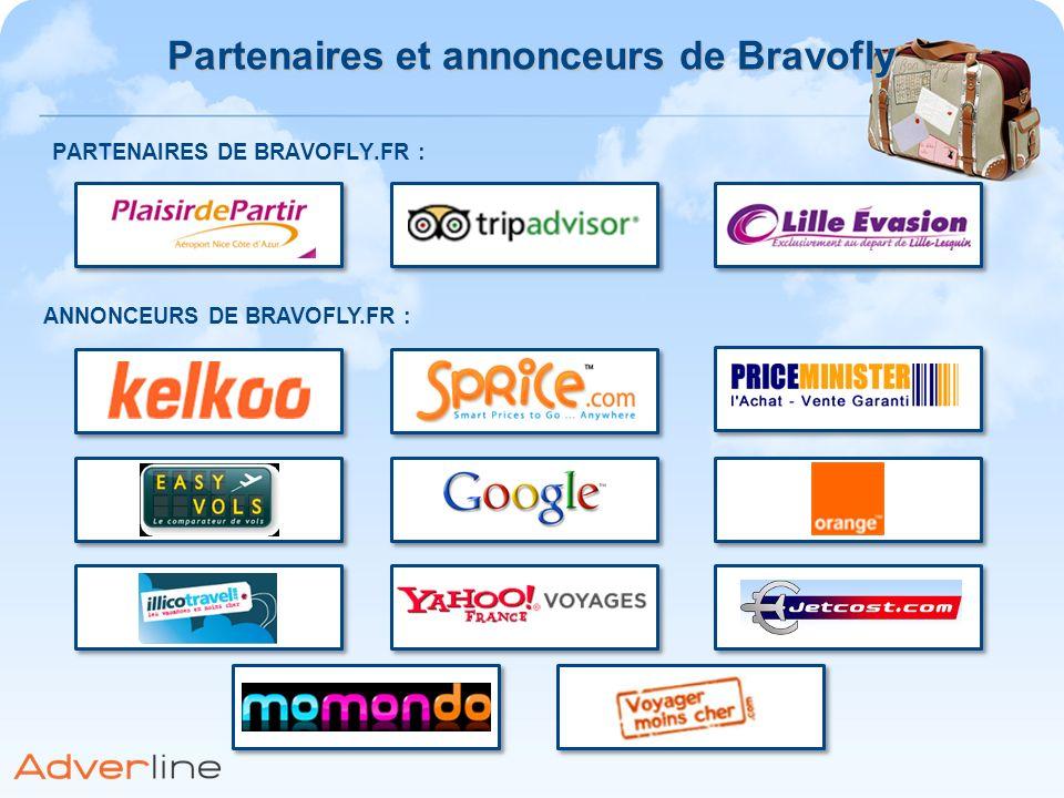 PARTENAIRES DE BRAVOFLY.FR : ANNONCEURS DE BRAVOFLY.FR : Partenaires et annonceurs de Bravofly