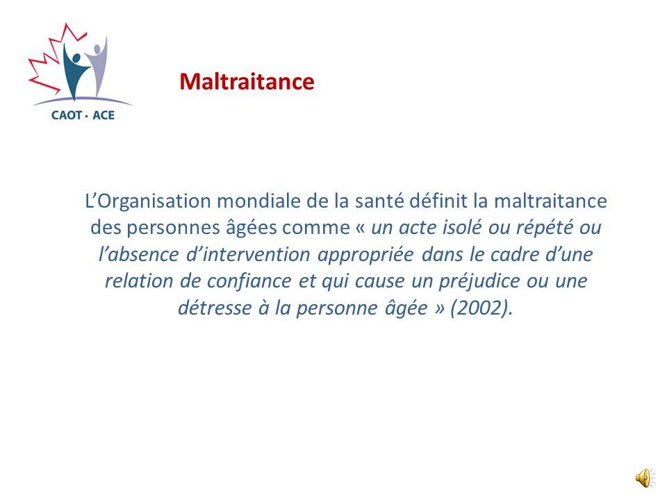 Sujets de discussion 1.Définition de la maltraitance et des mauvais traitements 2.Présentation du document de lACE 3.Concept de prévention 4.Dépistage