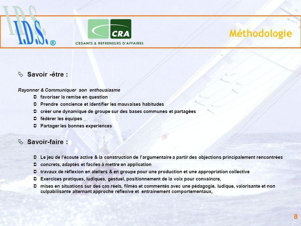 ® 19 Missions & Réalisations… Formation des équipes Commerciales: Sté AVL France Vente dinstruments de mesures et prestations de services dans le secteur automobile.