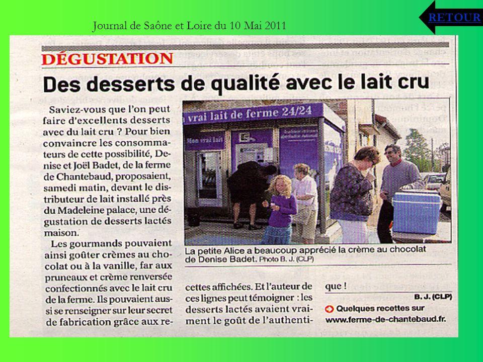 Journal de Saône et Loire du 10 Mai 2011 RETOUR