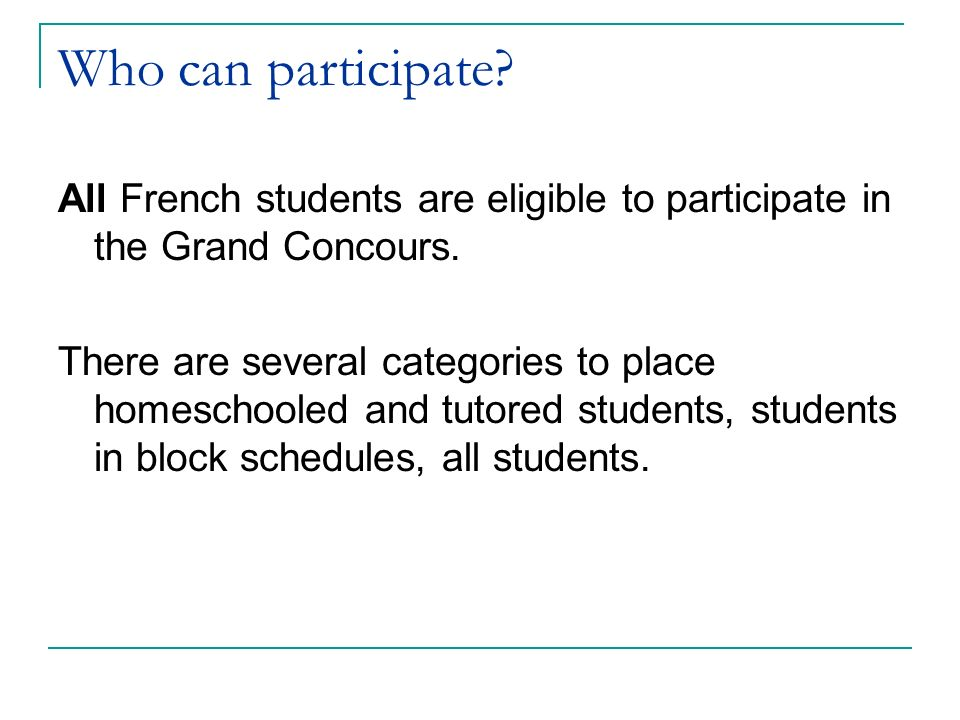 What is Le Grand Concours.