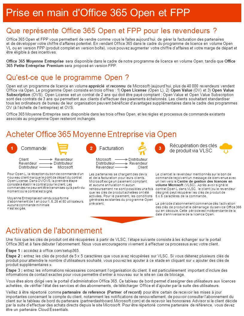 Acheter Office 365 Moyenne Entreprise via Open Qu'est-ce que le programme Open ? Open est un programme de licence en volume apprécié et reconnu de Mic