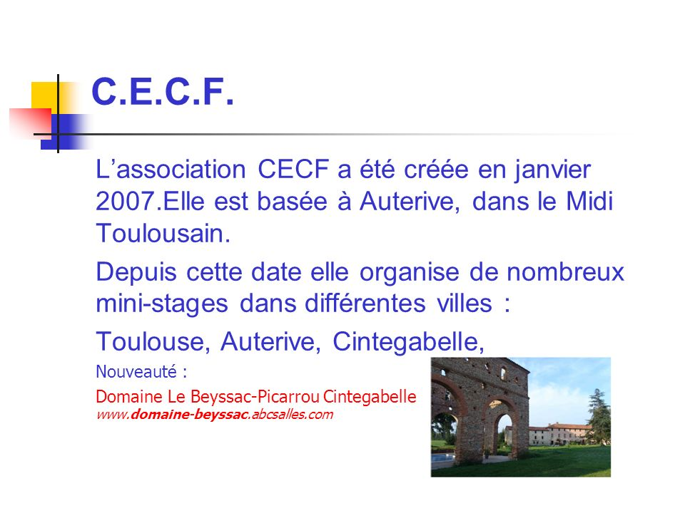 Stages C.E.C.F.