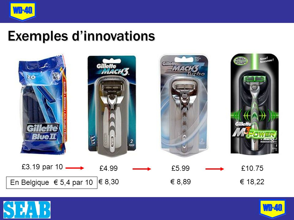 £4.99 8,30 £3.19 par 10 £5.99 8,89 £10.75 18,22 En Belgique 5,4 par 10 Exemples dinnovations