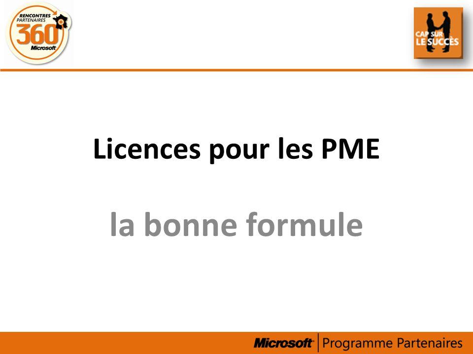 Licences pour les PME la bonne formule