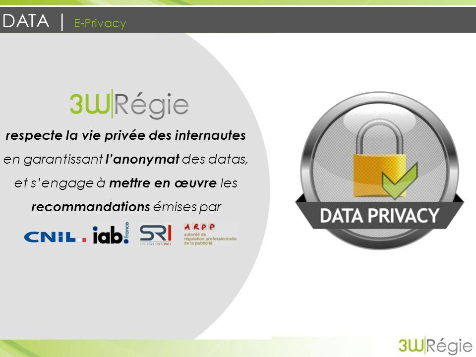 DATA | E-Privacy respecte la vie privée des internautes en garantissant lanonymat des datas, et sengage à mettre en œuvre les recommandations émises p