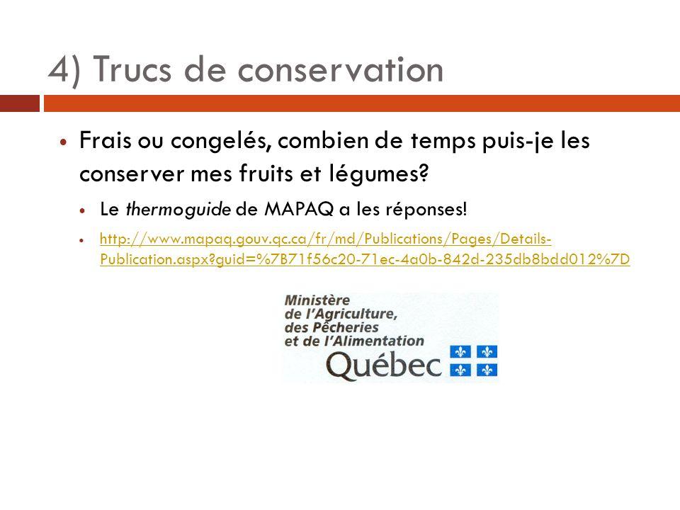 Frais ou congelés, combien de temps puis-je les conserver mes fruits et légumes? Le thermoguide de MAPAQ a les réponses! http://www.mapaq.gouv.qc.ca/f